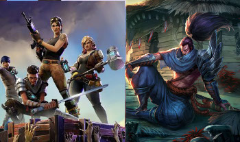 League of Legends Vs Fortnite |